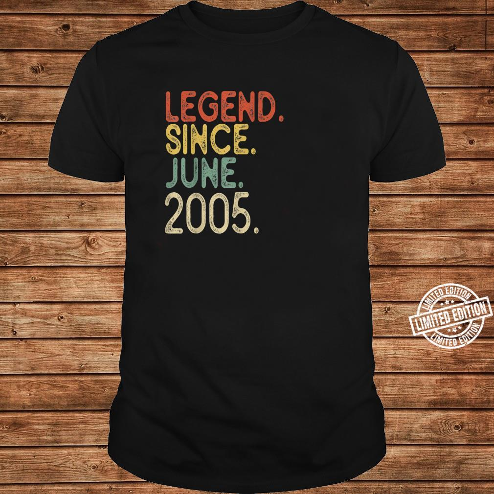16th Birthday Legend since June 2005 Vintage 16 Years old Shirt long sleeved
