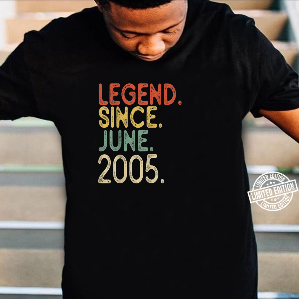 16th Birthday Legend since June 2005 Vintage 16 Years old Shirt