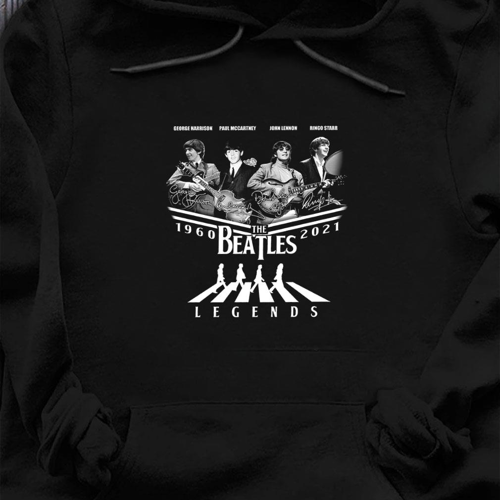 George harrison paul mccartney john lennon ringo starr 1960 2021 the beatles legend shirt hoodie
