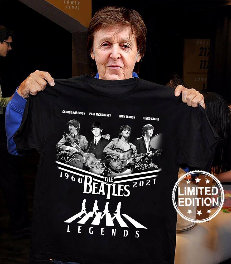 George harrison paul mccartney john lennon ringo starr 1960 2021 the beatles legend shirt