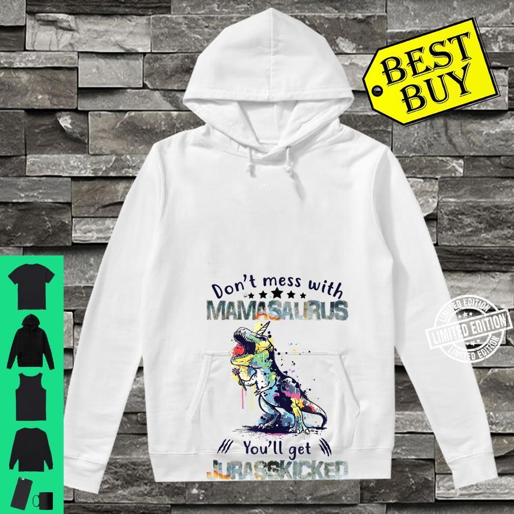 Mamasaurus Mama Saurus Dinosaur TRex Family Matching Shirt hoodie