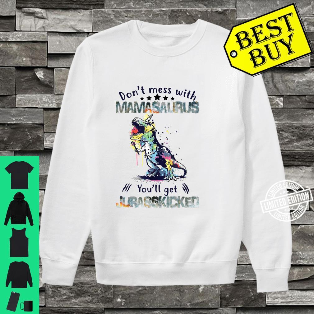 Mamasaurus Mama Saurus Dinosaur TRex Family Matching Shirt sweater