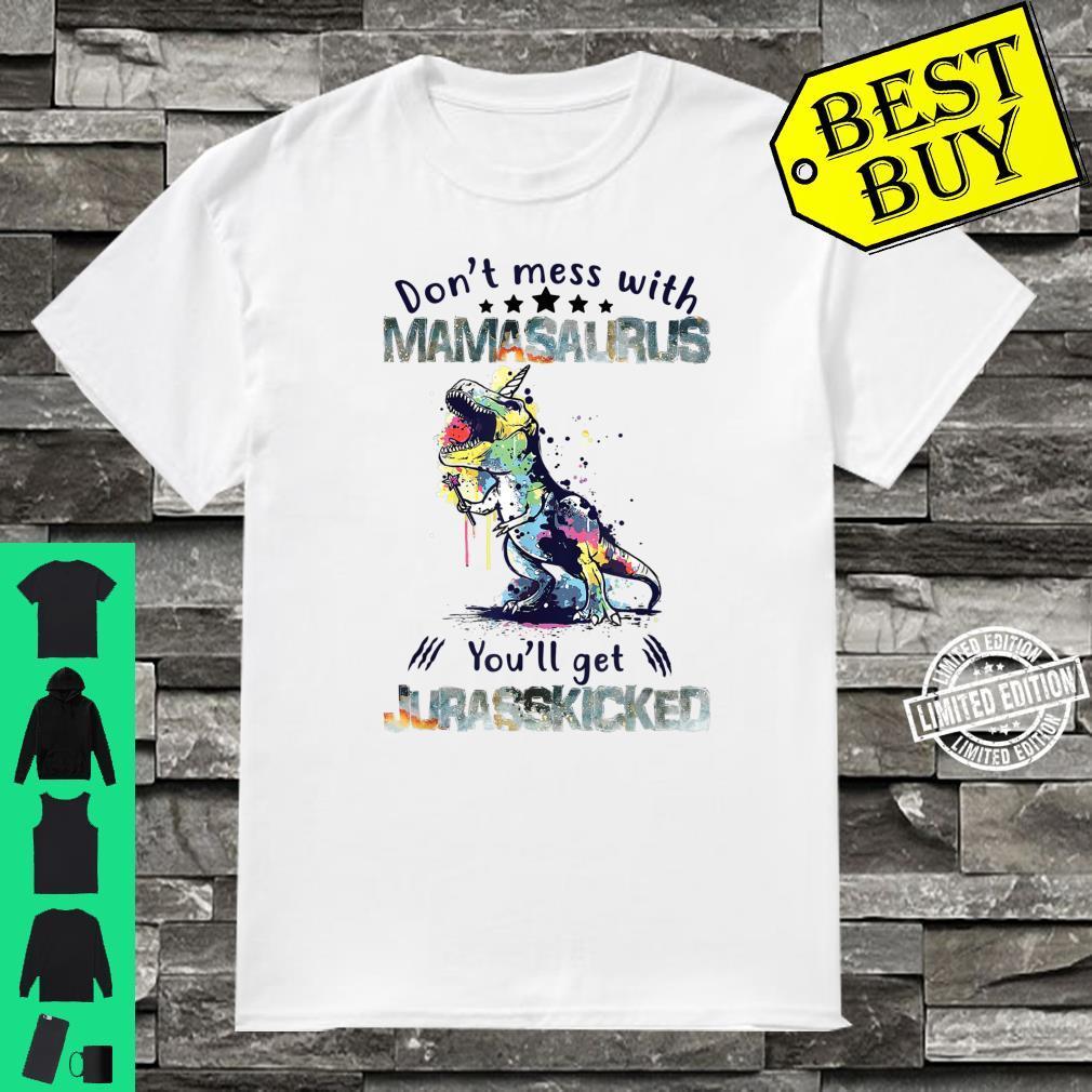 Mamasaurus Mama Saurus Dinosaur TRex Family Matching Shirt