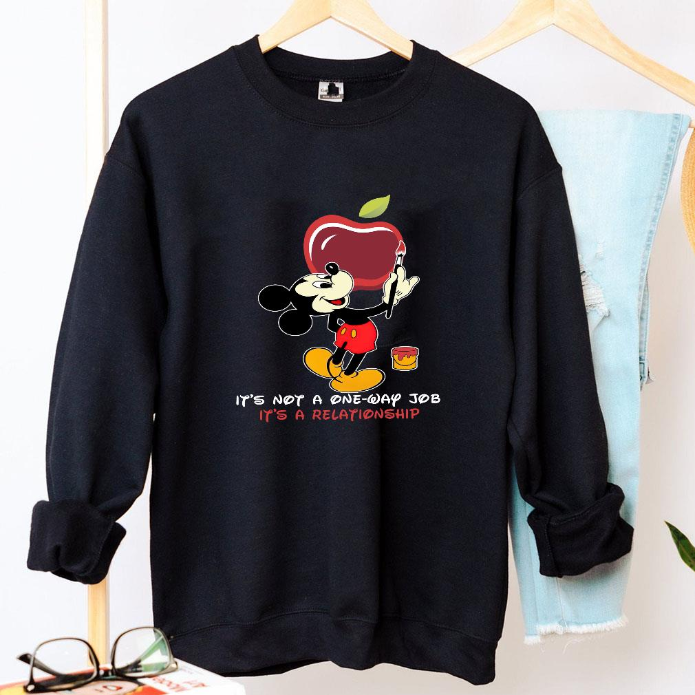 Mickey Mouse It's not a one way job it's a relationship shirt long sleeved