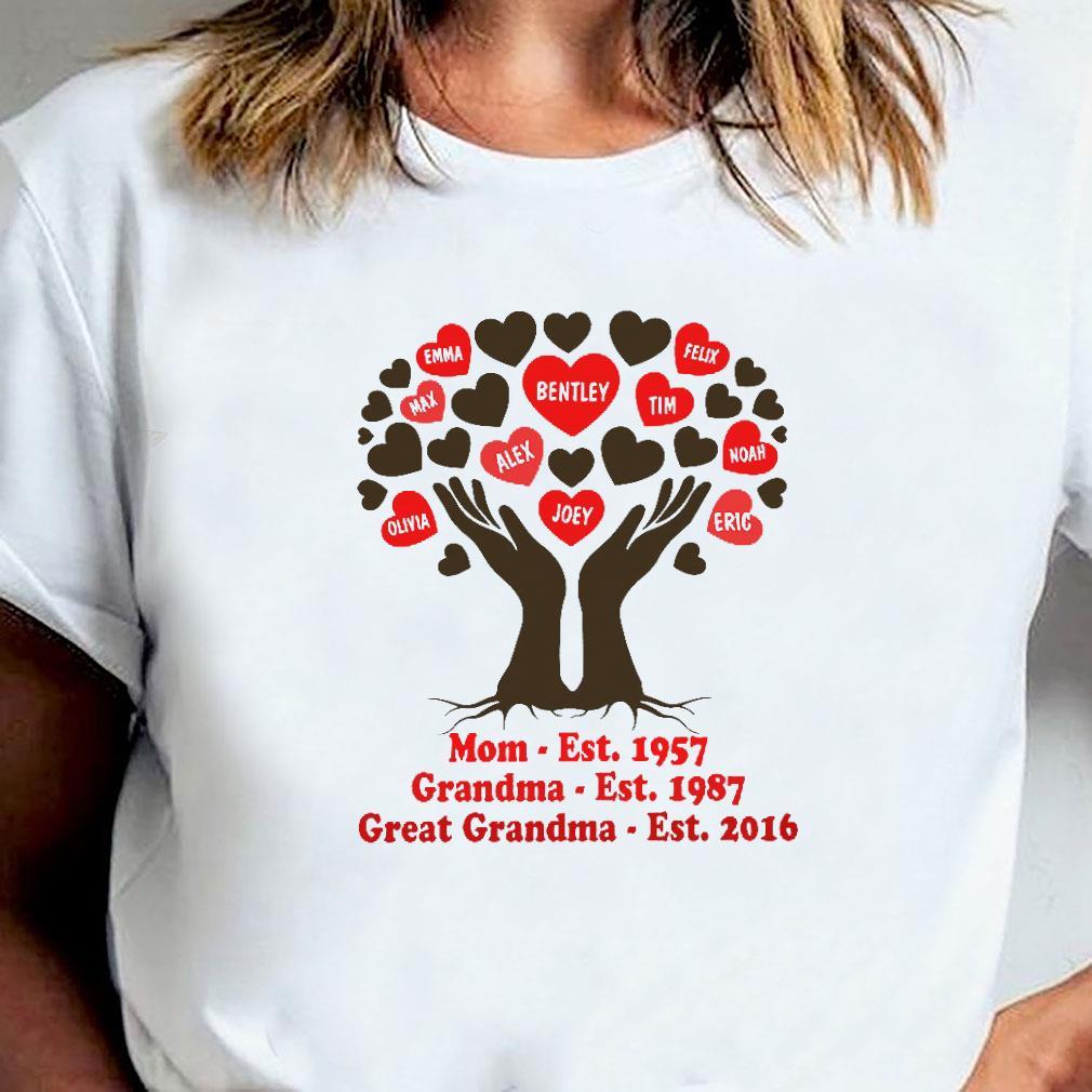 Mom est 1957 grandma est 1987 great grandma est 2016 shirt ladies tee