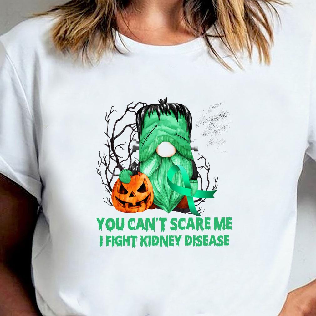 You can't scare me i fight kidney disease shirt ladies tee