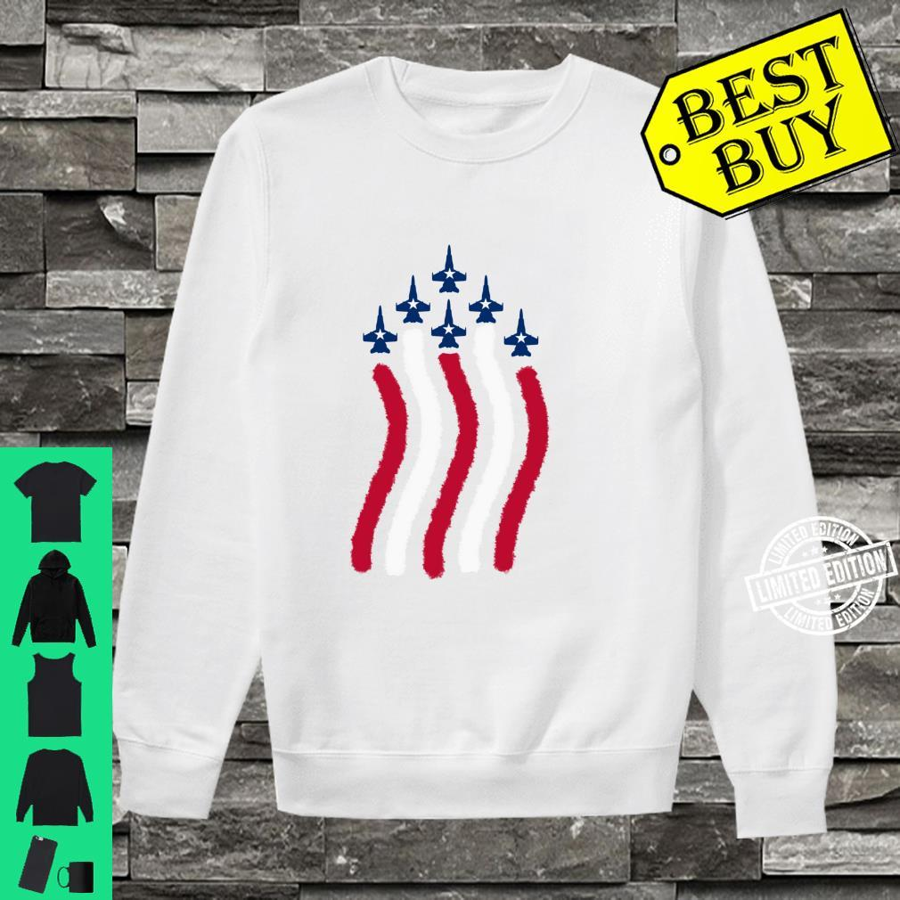 American Flag Patriotic Fighter Jet Airplane Plane Flyover Shirt sweater