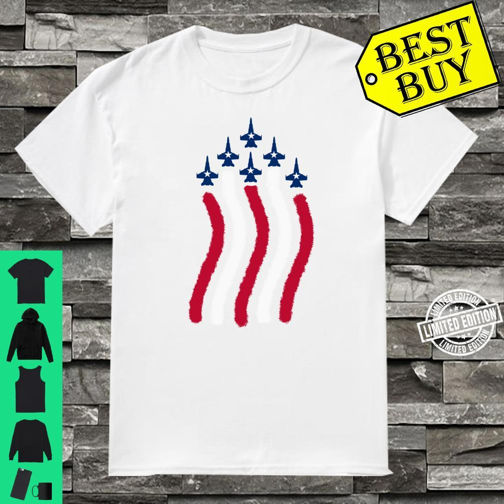 American Flag Patriotic Fighter Jet Airplane Plane Flyover Shirt