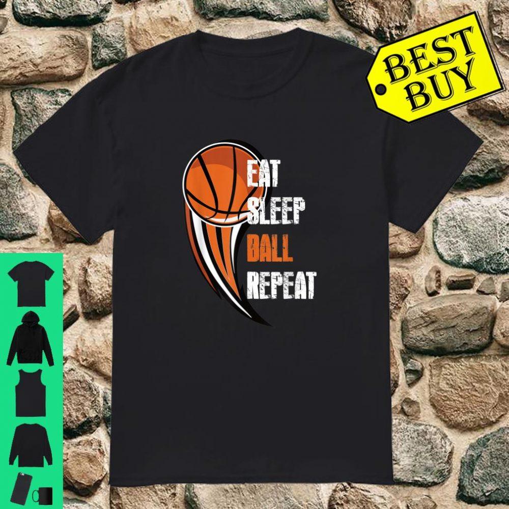 Eat Sleep Basketball Repeat Ball is Life Boys Shirt