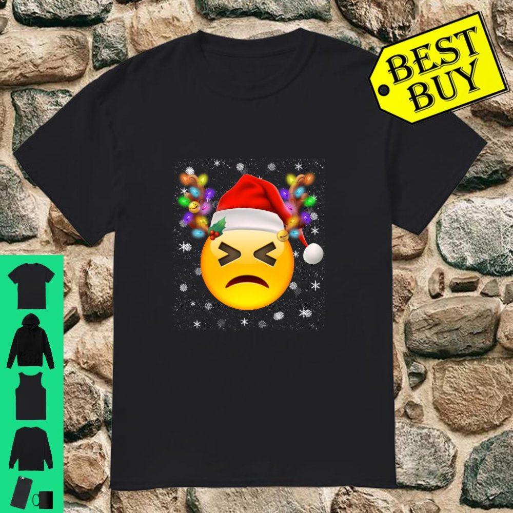 Emoji Santa Reindeer Disappointed Face shirt