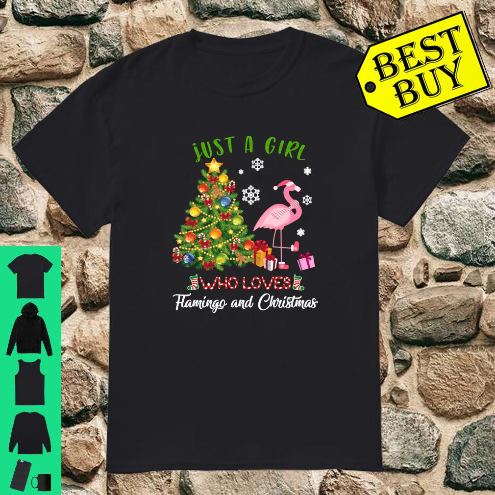 Flamingo Christmas Shirt.Just A Girl Who Loves Flamingo And Christmas Shirt