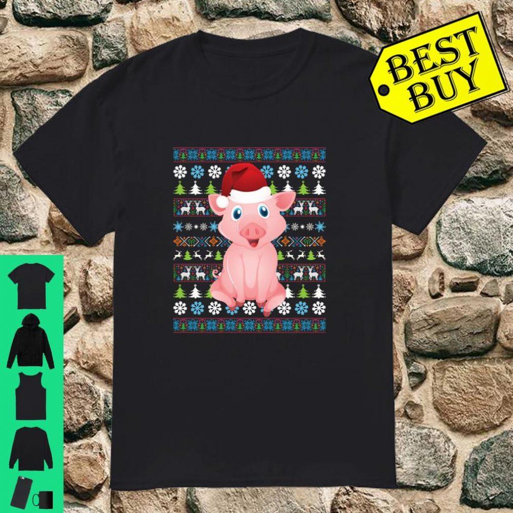 Merry Christmas Pig Ugly Sweater Santa Claus Xmas Family shirt