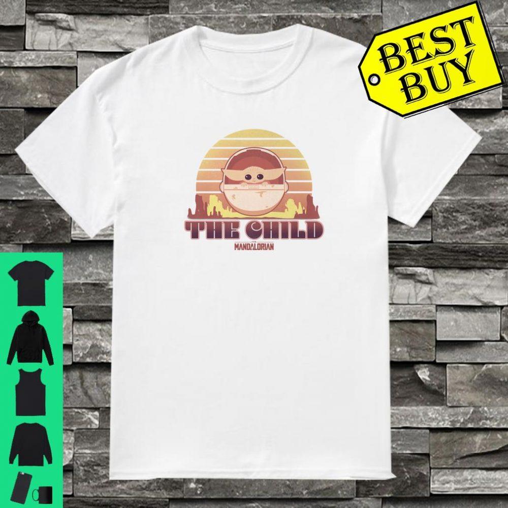 Star Wars The Mandalorian The Child Retro Line Portrait shirt