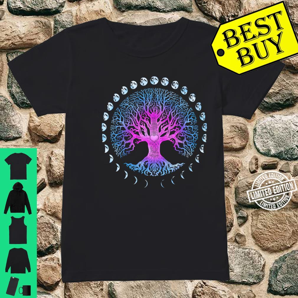 Tree of Life Phases of the Moon Shirt ladies tee