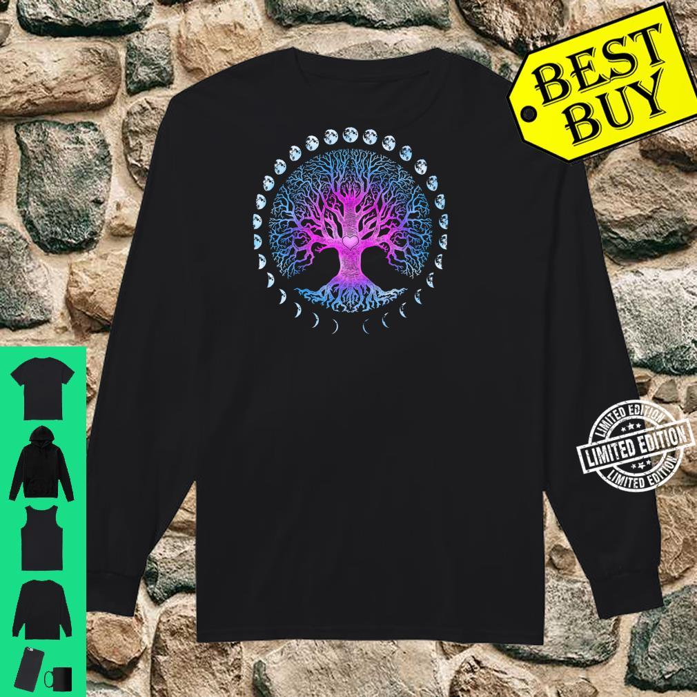 Tree of Life Phases of the Moon Shirt long sleeved