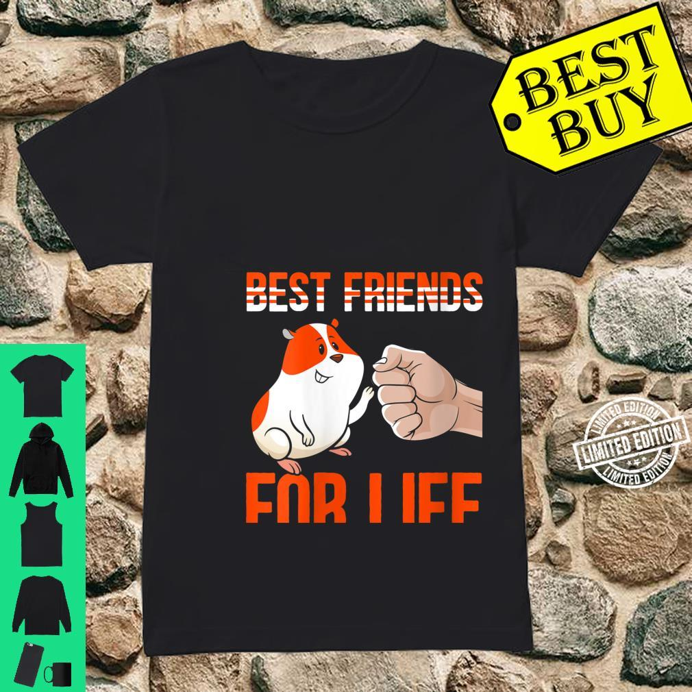 Womens Best Friends For Life Fist Bump Rodent Small Pet Hamster Shirt ladies tee
