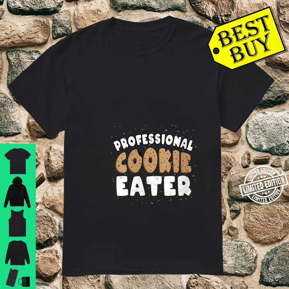 Womens Christmas Professional Cookie Eater Cookie Shirt