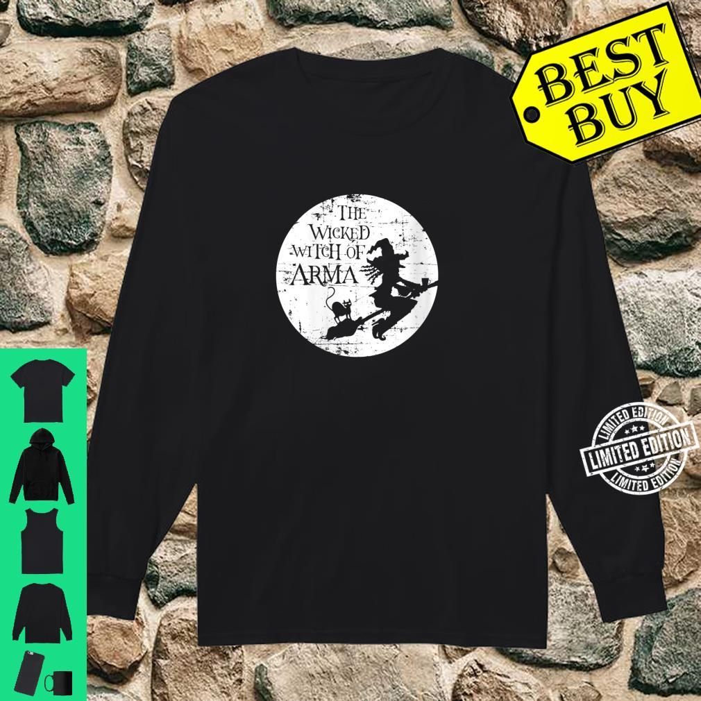 Womens The Wicked Witch Of Arma Halloween Shirt Kansas Shirt long sleeved